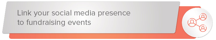 Link your social media presence to fundraising events banner.