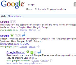 The 'digg'ification of Google