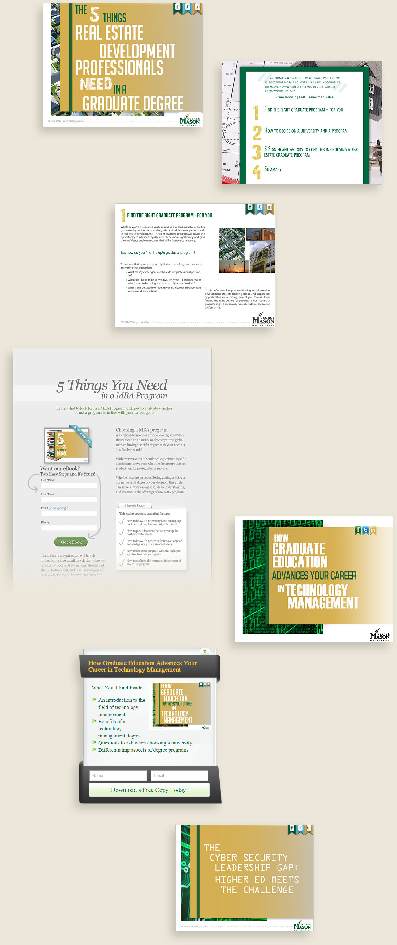 For GMU, the project assets included several high quality and informative eBooks.